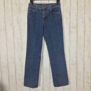 Eddie Bauer Natural Straight Leg Jeans High Rise